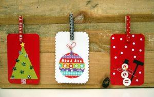 zelf kerstkaarten maken met washi tape