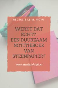moyu een notitieboek van steenpapier