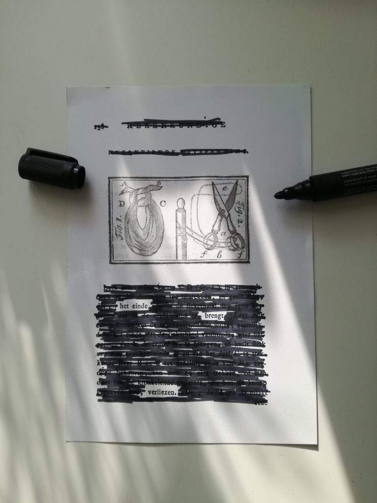 black out poetry maken